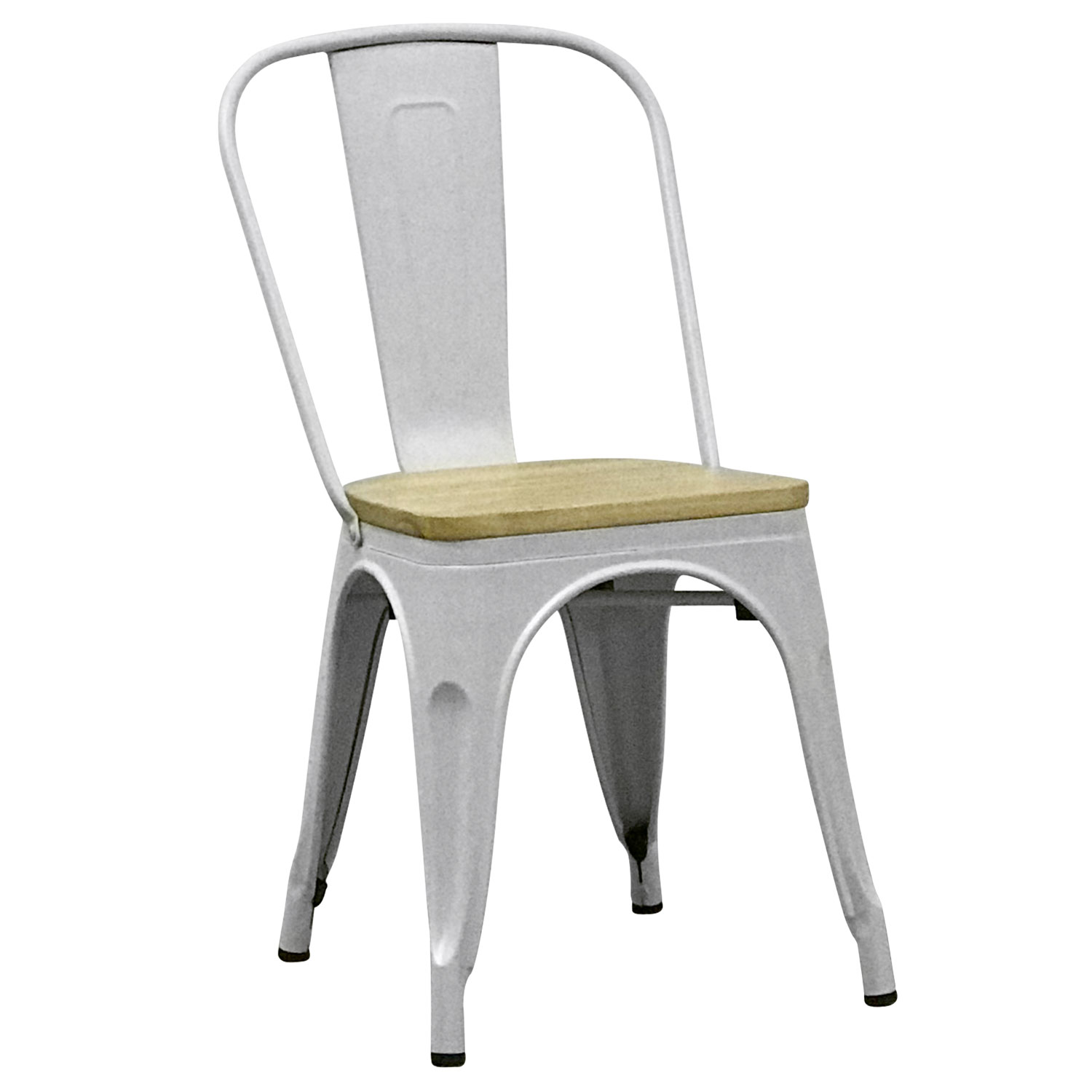 SILLA TOLIX BLANCA NATURAL WOOD