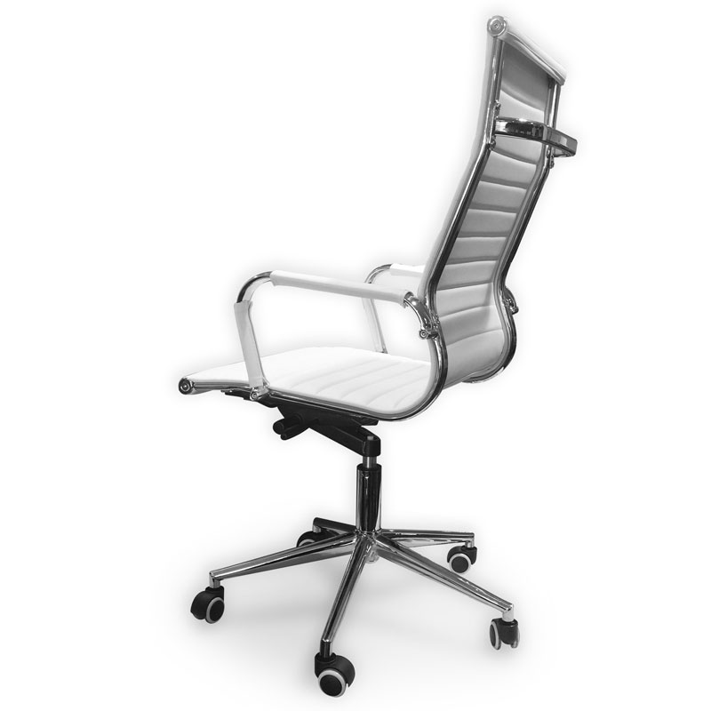 SILLON ALUMINUM CHROME ALTO BLANCO
