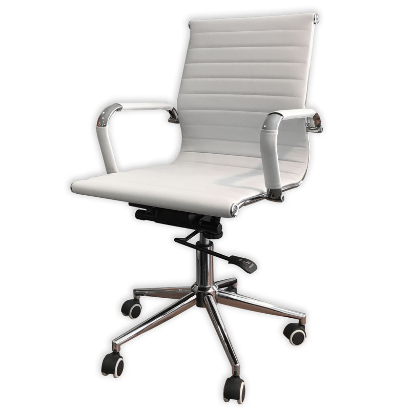 SILLON ALUMINUM CHROME BAJO BLANCO