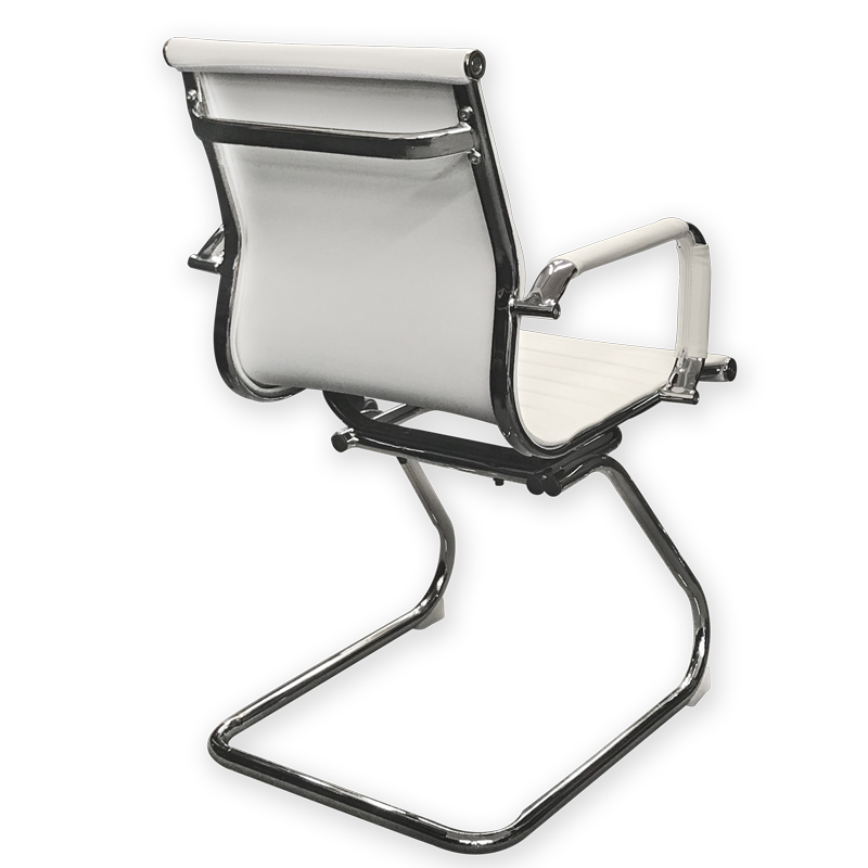 SILLON ALUMINUM CHROME TRINEO BLANCO